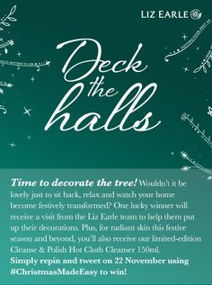 I'm in to win help decorating my Christmas tree from Liz Earle's Nov only. Christmas Things, Christmas Ideas, Xmas, Christmas Tree, Giveaways, Make It Simple, Competition, Cheer, How To Look Better