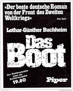 Original-Werbung/ Anzeige 1976 - BUCHHEIM : DAS BOOT / PIPER - ca. 80 x 110 mm