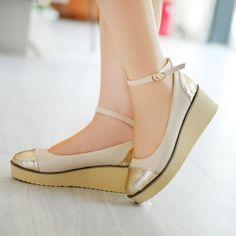 wholesale Platform flats with belt girls casual shoes Z-KDS1-3
