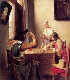 """Soldiers playing cards"". Pieter de Hooch (1629-1688)"
