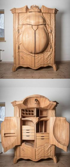 Beetle cabinet-Scares and intrigues me at the same time. Totally a piece of perfect art from a Master craftsman.