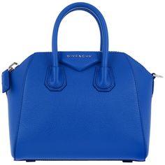 Givenchy Shoulder Bag - Antigona Mini Bag Indigo Blue - in blue -... (89.565 RUB) ❤ liked on Polyvore featuring bags, handbags, shoulder bags, blue, purse shoulder bag, mini shoulder bag, handbag purse, leather shoulder handbags and hand bags