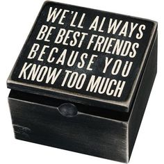 for best friends diy Primitives by Kathy Best Friends Hinged Box Best Friend Wedding Gifts, Diy Best Friend Gifts, Cute Gifts For Friends, Best Friend Christmas Gifts, Bestie Gifts, Presents For Best Friends, Diy Presents, Sister Gifts, Birthday Present Ideas For Best Friend