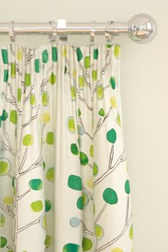 Wonderful green curtains, Berry   Tree by Scion. Wall paper also.  code 120051    Berry Tree Melinki One Fabrics by Scion