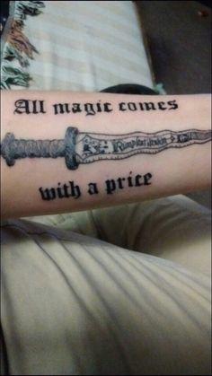 Finished Once Upon A Time Tattoo. Rumplestilitskin. Rumplestilskin's dagger. All…