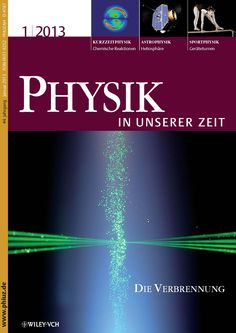 Cover of Vol. 1, 2013, Physics of Combustion