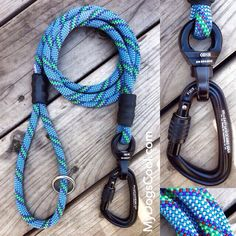 Top Gun Ultimate Climbing Rope Dog Leash with carabiner and nanoSwivel.  http://mydogscool.com/store/ultimate-climbing-rope-dog-leash/ #dogs #mydogscool #dogleash