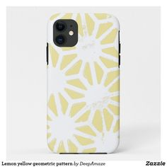 Lemon yellow geometric pattern Case-Mate iPhone case Iphone 11, Apple Iphone, Iphone Cases, Lemon Yellow, Diy Face Mask, Plastic Case, Gifts For Dad, Art Pieces, Hands