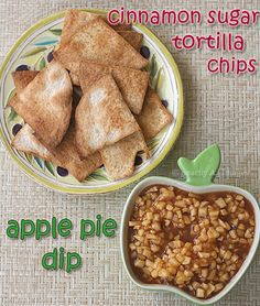 Made this:  YUM!  Apple Pie Dip - served with regular pita chips, next time trying cinnamon sugar pita chips