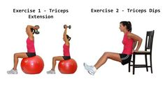 This Total Body Superset Workout will blast mega calories in less time: Superset 6:  Triceps Extensions and Triceps Dips