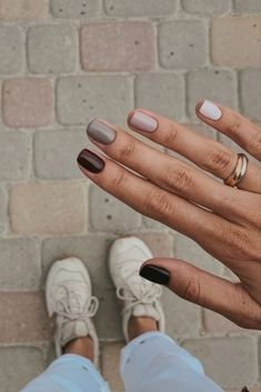 Autumn Nails, Winter Nails, Summer Nails, Spring Nails, Fall Gel Nails, Fall Manicure, Fall Nail Art, Manicure E Pedicure, Mani Pedi