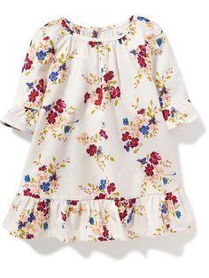 Ruffle-Trim Dress for Baby