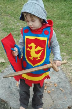 Knight Shield PRIMARY Colors Halloween by TheTreeHouseKid