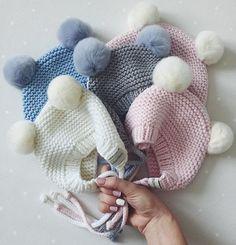 WEBSTA @ dasharichardson.knits - Охапка милоты!будущие владельцы булькаются сейчас у мам в животикаха я стараюсь для нихпс.чепчики были связаны НА ЗАКАЗ, 100%merino, ушки кролик рекс, 2000₽новые заказы буду принимать после нового года Knitting For Kids, Baby Knitting, Baby Boy Hats, Crochet Yarn, Knit Patterns, Baby Items, Arm Warmers, Knitted Hats, Winter Hats