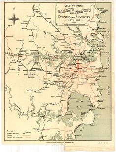 M2148 Railways and Tramways Map of Sydney and Environs, NSW, 1913. | Flickr - Photo Sharing!