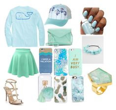 """Blue theme"" by tilly11wave on Polyvore featuring Vineyard Vines, LE3NO, Valentino, Billabong, Apt. 9, Kate Spade, Full Tilt, Vera Bradley, ban.do and Ashlyn'd"