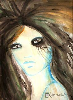 RETRATOS EN TINTA Y ACUARELA | Lola Kabuki  #love #art #watercolor #paintings #illustration