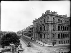 Macquarie S: Many Sydney streets were wood-block paved in the 1880s. Not sure about this one though. I've enlarged this image as far as I can and it could be. 85/1285-145 Glass plate negative, full plate, 'Macquarie Street, Sydney', Henry King, Sydney, Australia, c. 1880-1900 - Powerhouse Museum Collection