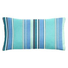 Cushion Source 20 x 12 in. Striped Sunbrella Indoor / Outdoor Lumbar Pillow Dolce Oasis - NCGN9-56001