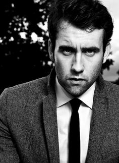 Matthew Lewis...Neville Longbottom from the Harry Potter films. The black and white shot is very flattering.