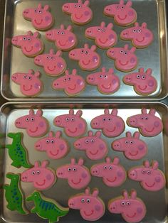 Peppa Pigs and Dino cookies!