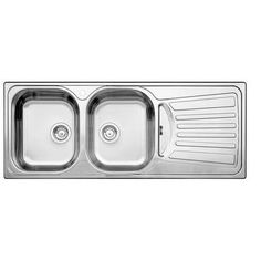 BLANCO - 2 Bowl, Right-Hand Drainboard Topmount Stainless Steel Kitchen Sink - SOP463 - Home Depot Canada