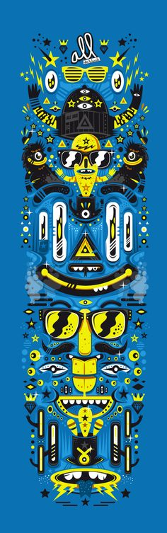All Skateboard Contest by New Fren, via Behance