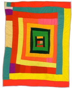 Quilt by Minnie Sue Coleman, Gee's Bend, Alabama, posted by Maria Horvath (A Poem a Day)