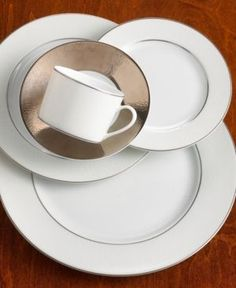 Sandra by Sandra Lee 16PC DINNERWARE SET WHITE SOFT SQ | House ...