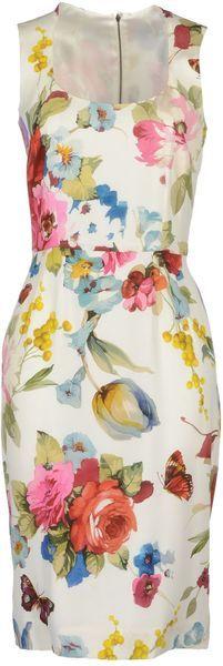 Floral Print Mini Dress - Lyst