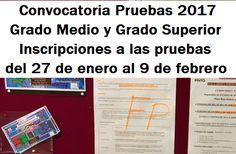 Formación Profesional. Convocatoria 2017 de Pruebas Libres de Grado Medio y Grado Superior en la Comunidad de Madrid. February 9, Summoning, Baccalaureate, Degree Of A Polynomial, Community