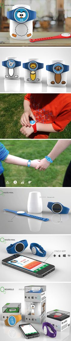Meet, Findly, the friendly smartwatch that aims to connect parents and kids! It's equipped with built-in GPS so parents always know their little one's whereabouts, even if they wander off. Parents can tap in to an app on their smartphone that will display the children's location. On the watch face itself, an arrow will point kids in the direction of their parents and display their phone and address in the event another adult needs to contact them.