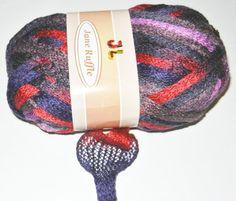 Jane Ruffle Fishnet mesh Frilly Net style yarn by JuliaLCraft, $4.99