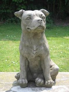 I Love This Pit Bull Garden Statue. If You Live In The UK You Can