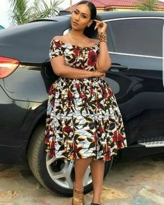 Ankara Short Gown Styles, Short Gowns, Latest African Fashion Dresses, African Print Dresses, African Dresses For Women, African Print Fashion, African Attire, Ankara Fashion, Africa Fashion
