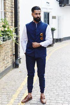 white shirt with navy blue nehru jacket - Wedding And Engagement Wedding Kurta For Men, Best Wedding Suits, Wedding Dresses Men Indian, Wedding Dress Men, Wedding Shoot, Mens Indian Wear, Mens Ethnic Wear, Indian Groom Wear, Indian Men Fashion