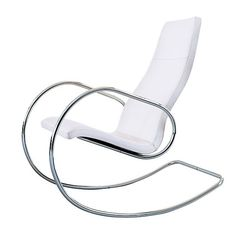 Ah the line! This simple design is perfect for a modern minimalist home.(S 826 rocking chair from Crest Living )