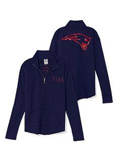 New England Patriots Bling Half Zip Pullover LOVE!