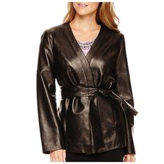 Liz Claiborne Leather Kimono Jacket - Petite - on #sale 50% off @ #Jcpenney  #LizClaiborne