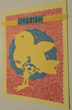 Birthday Card Bird Silhouette Cameo