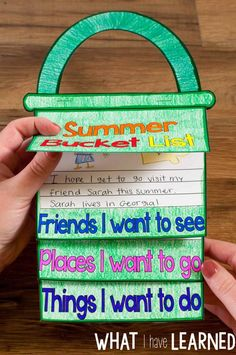 A fun craftivity flap book where students write about all the friends they are going to see this summer, the places they want to visit, and the things they want to do.  Includes eight different versions of the pages: blank, lined, blank & line, & picture frame, and two versions of the cover (with and without 