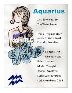 Zodiac Aquarius Poster Aquarius traits by Tammy Lawrence-Cymbalisty… Aquarius Pisces Cusp, Aquarius Traits, Aquarius Quotes, Aquarius Woman, Capricorn And Aquarius, Zodiac Signs Aquarius, 12 Zodiac, Zodiac Sign Facts, Astrology Zodiac