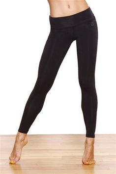 "25"" Jean Style Fitted Yoga Legging w/ Back Pocket in Black by Green Apple. Our Jean Style Fitted Legging combines comfort & style with a perfect fit. Made from our breathable, organic bamboo, vintage dyed support jersey, this legging is ideal for yoga, pilates & casual wear. Style includes back pockets, vintage nickel logo rivets, flattering back yoke & tonal embroidery detail on back of waistband. Fitted. $43.95 at www.karmicfit.com #yoga #yogaleggings"