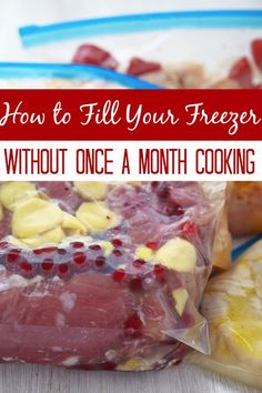 If you're like me, you hate standing and all of the work involved with once a month cooking, you may just love my method better!