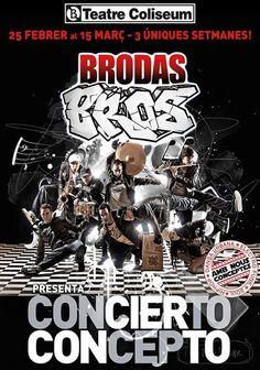 "Espectacle de dansa i música ""Concierto Concepto"", de la companyia Brodas Bros. Teatre Coliseum (Barcelona). 22 de febrer"