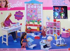 Barbie Classroom Playset PRESCHOOL (2002 Multi-Lingual Box)