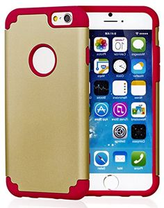 """myLife Iron Man Red and Gold {Rugged Design} 2 Layer Hybrid Case for the NEW iPhone 6 (6G) 6th Generation Phone by Apple, 4.7"""" Screen Version (Single External Fitted Hard Protector Shell + Full Body Internal Silicone EASY-Grip Bumper Gel Protection) myLife Brand Products http://www.amazon.com/dp/B00NI53OBQ/ref=cm_sw_r_pi_dp_YQepub1P2MSXE"""
