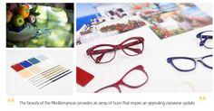 Kam Dhillon Mediterranean Collection glasses colour inspiration Eyewear Trends, Glasses Frames, Colour Inspiration, Coastal, Beauty Hacks, Beauty Tricks, Beauty Dupes, Beauty Secrets