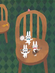 'It's a Nice Day' by Kaori Seno Japan Illustration, Cute Animal Drawings, Cute Drawings, Apple Watch Wallpaper, Drawing Skills, Japanese Artists, Illustrations And Posters, Tumblr, Cute Art