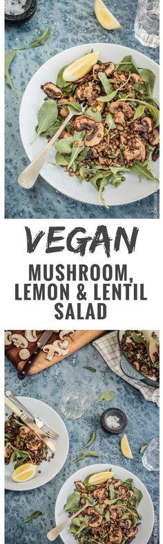 This vegan, gluten-free Mushroom and Lentil Salad is a healthy, light and easy salad that's perfect to bring along to your next BBQ or picnic. via @deliciouseveryday